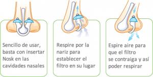 filtro nasal antialergia