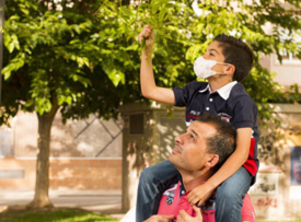 mascarilla infantil nosk para niños y niñas