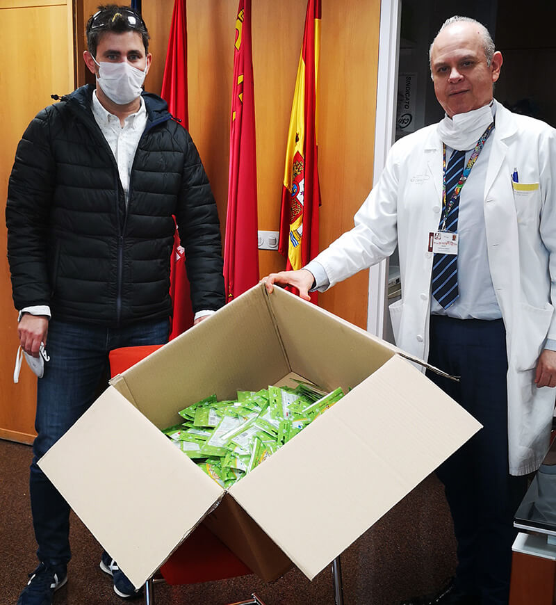 Donacion mascarillas coronavirus Nosk