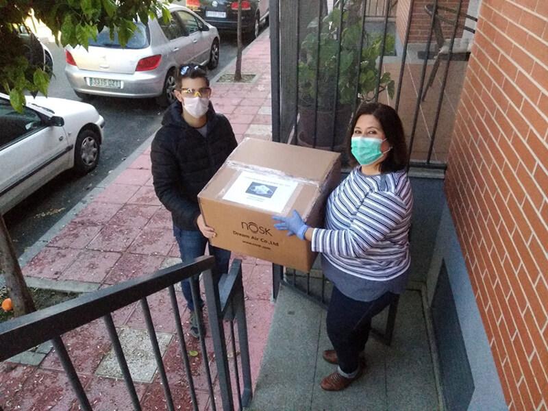 Donacion mascarillas fibrosis quística