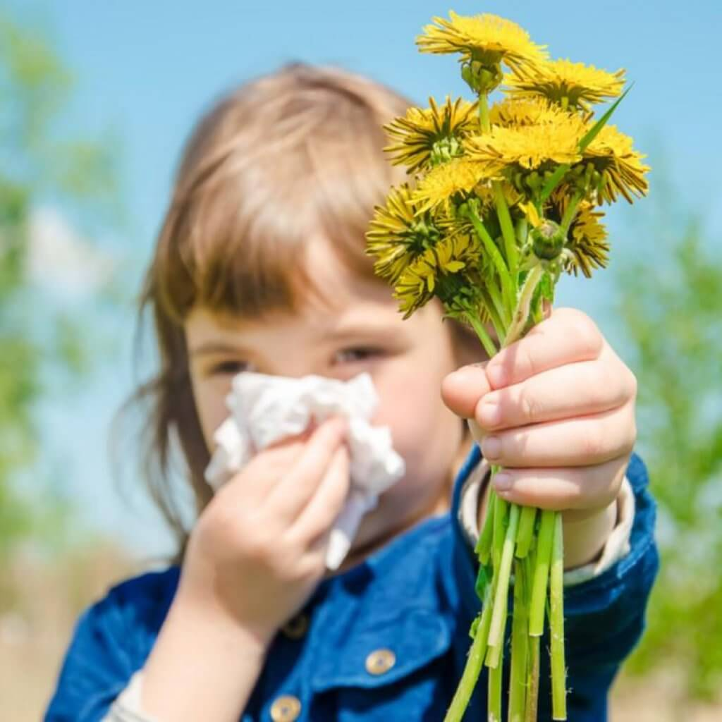 Alergia al polen en los niños